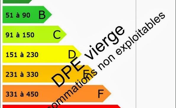 DPE étiquette vierge